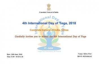 4th International Day of Yoga Celebration at CGI Sittwe