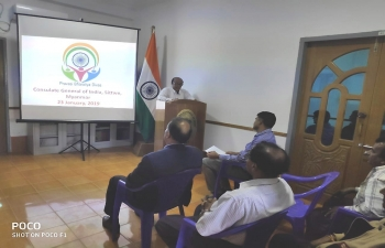 15th Pravasi Bharatiya Divas was celebrated at Consulate General of India, Sittwe