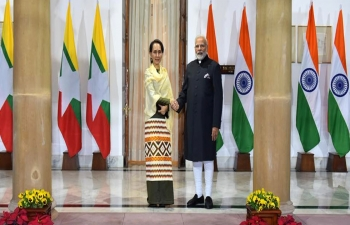 PM Narendra Modi met with State Counsellor of Myanmar, Daw Aung San Suu Kyi at New Delhi, 24th January, 2018