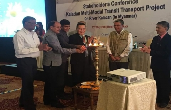 Stakeholder's Conference on Kaladan Multi-Modal Transit Transport Project on River Kaladan (in Myanmar), 15th May, 2019 at Kolkata.