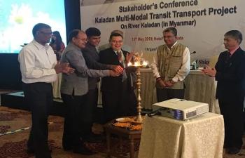 Stakeholder's Conference on Kaladan Multi-Modal Transit Transport Project on River Kaladan (in Myanmar), 15th May, 2019 at Kolkata.