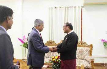 Meeting with Speaker, Rakhine State parliament.
