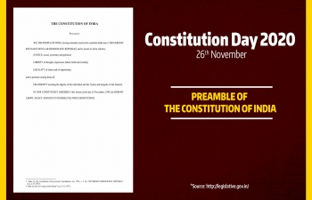 Collective reading of the Preamble to the Constitution of India at the Consulate to celebrate the Constitution Day on 26th November, 2020 in commemoration of the adoption of our Constitution