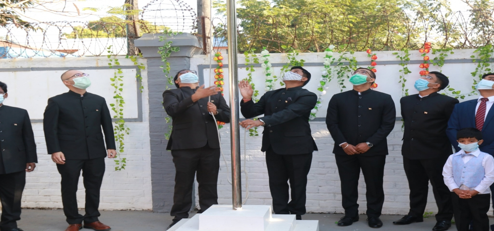 On the 72nd Republic Day of India, Consul General, Consulate Geneal of India, Sittwe hoisted the National Flag followed by recitation of National Anthem and reading of Hon'ble President of India's address to the Nation.